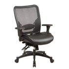 Space Mesh Chair with Leather Seat, CD00469