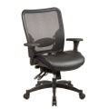 Matrex Mesh Back Leather Chair, 56563