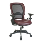 Ergonomic Chair with Leather Seat and Mesh Back, 56485