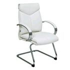 Sled Base Leather Guest Chair, CD01492