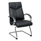 Leather Sled Base Chair, CD01499