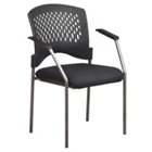 Stack Chair with Fabric Seat and Arms, CD01500