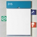 ICON Alert Signage with 8 Icon Tabs and Header, 25222