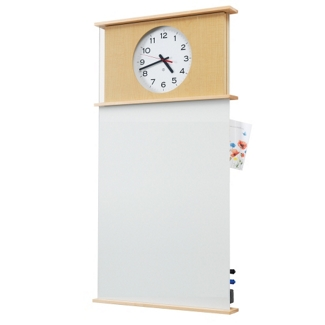 Peter Pepper Message Board with Clock, 25235