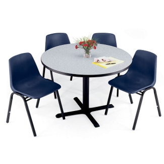 "Breakroom Table with Painted Base - 48"" Square or Round, 44127"