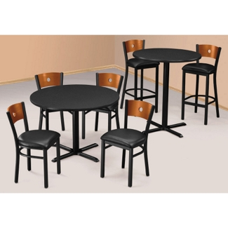 """29""""H Standard and 42""""H Bar Height Table Sets, 44024"""