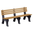 Recycled Plastic Outdoor Economy Bench with Back 6', 85152