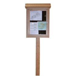 Double Sided Single Post Outdoor Message Center, 85690