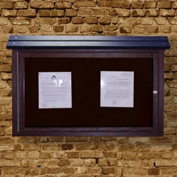 "Wall Mounted Outdoor Message Center - 40"" x 30"", 85694"