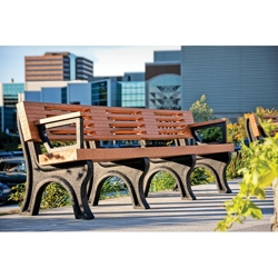 Outdoor Bench with Backrest and Arms - 8 ft, 85833