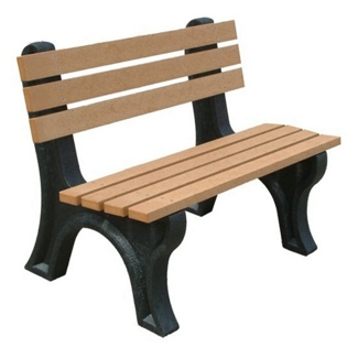4'W Outdoor Bench with Backrest, 85878