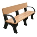 6' W Eco Friendly Outdoor Bench with Backrest and Arms, 85888