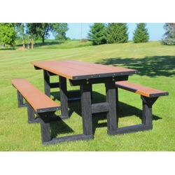 8' W Easy Access Picnic Table, 85892