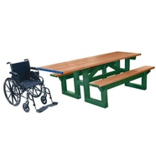 ADA Accessible 8' W Easy Access Picnic Table, 85893