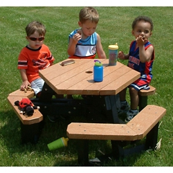 Child Size Hexagon Picnic Table, 85894