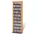 Slim Media Storage Tower - Oak, CD00368