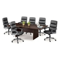 Segment Set of Six Faux Leather Conference Chairs, 40048