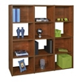 "63""H Storage Divider Bookcase with Twelve Openings, 32974"
