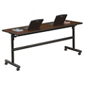 "Merit Flip Top Training Table with Casters - 48""W x 24""D, 41811"