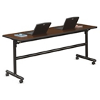 """Merit Flip Top Training Table with Casters - 72""""W x 24""""D, 41813"""