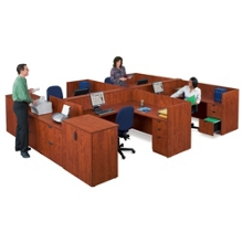 Four-Person Workstation with Storage, 86163
