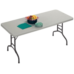 "Lightweight Rectangular Folding Table - 72"" x 30"", 41236"