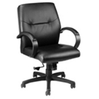 Leather  Mid-Back Chair, 50779