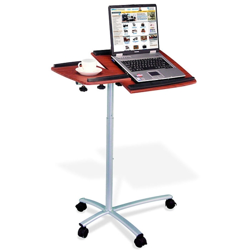 RTA Products Mobile Laptop Cart Mahogany