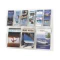 Clear Plastic Nine Pocket Magazine and Pamphlet Rack, 33131