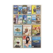 Clear Plastic 18 Pocket Magazine and Pamphlet Rack, 33133