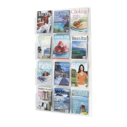 Clear Plastic Twelve Pocket Magazine Rack, 33134