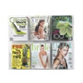 Economical Clear Plastic Six Pocket Magazine Rack, 33279