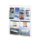 Economical Clear Plastic Six Pocket Magazine and Pamphlet Rack, 33280