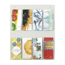Economical Clear Plastic Eight Pocket Pamphlet Rack, 33282