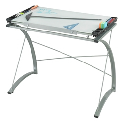 """Glass Top Drafting Table - 41"""" W x 24"""" D, 70227"""