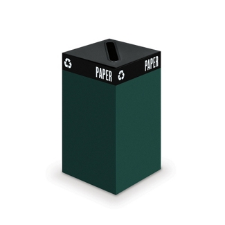 """Recycling Container (Paper Slot Top) - 26""""H, 90842"""