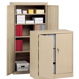 """Heavy-Duty Steel Storage Cabinet - 78""""H x 24""""D, 31111"""
