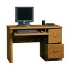 Carolina Oak Compact Single Pedestal Desk, CD01823