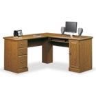 Carolina Oak Compact Computer L-Desk, CD01829