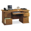 Carolina Oak Double Pedestal Desk, 13058
