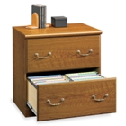 Carolina Oak Two Drawer Lateral File, 13059