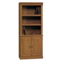Carolina Oak Five Shelf Bookcase with Lower Doors, 13060