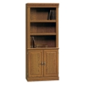Carolina Oak Five Shelf Bookcase with Lower Doors, 13060