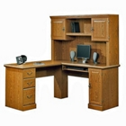 Computer L-Desk with Hutch, CD01916