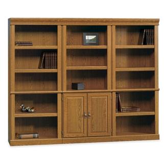 Carolina Oak Bookcase Wall Group, 13064