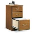 Carolina Oak Three Drawer Storage and File Cabinet, 13066