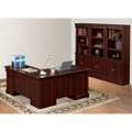 Palladia L-Desk with Bookcase Wall, 13453