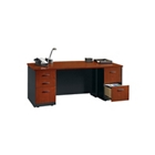 VIA Bow Front Executive Desk, 15436