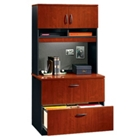 Two Drawer Lateral File with Hutch, CD03623