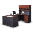 VIA Compact U-Shaped Desk with Hutch, 13282